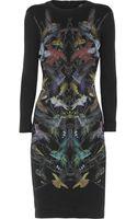 McQ by Alexander McQueen Hummingbird Print Stretch Jersey Mini Dress - Lyst