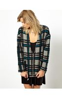 Asos Blazer in Brushed Check with Zip Front - Lyst