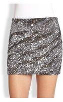Haute Hippie Caviar Sequined Mini Skirt - Lyst