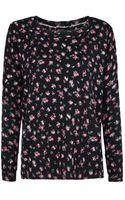 Mango Floral Print Sweater - Lyst