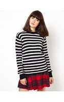 Asos Breton Stripe Knit Sweater - Lyst