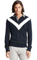 Tommy Hilfiger Chevron Stripe Polo Sweater - Lyst