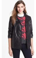 Ellen Tracy Aline Leather Jacket - Lyst