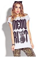 Forever 21 Meow Riot Tee - Lyst