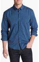 Cutter & Buck Thorton Park Stripe Regular Fit Sport Shirt - Lyst