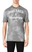 DSquared2 Champagne Print Tshirt - Lyst