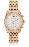 Michael Kors Rosetone Pressley Chronograph Glitz Watch - Lyst