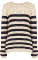 Oasis Cotton Stripe Ll Jumper - Lyst