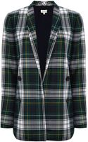 Suno Green Plaid Relaxed Blazer - Lyst
