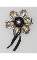 Lanvin Crystal Flower Brooch - Lyst
