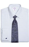 Brooks Brothers Supima Cotton Noniron Regular Fit French Cuff Twill Triple Check Luxury Dress Shirt - Lyst