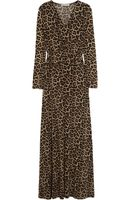 Michael by Michael Kors Leopardprint Stretchjersey Maxi Dress - Lyst