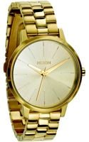 Nixon Kensington Goldtone Stainless Steel Watch - Lyst