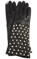 Diane Von Furstenberg Pyramid Studded Leather Gloves - Lyst