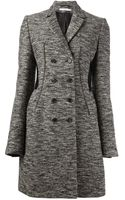 Givenchy Tweed Double Breasted Coat - Lyst