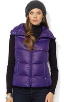 Lauren by Ralph Lauren Quilted Down Packable Puffer - Lyst