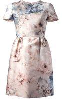 Valentino Floral Dress - Lyst