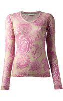 Wunderkind Roses Top - Lyst