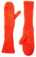 Asos Cheap Monday Lurex Mitten Gloves - Lyst