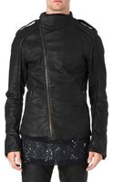 Gareth Pugh Asymmetric Waxed-denim Jacket - Lyst
