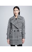 Trina Turk Nancy Menswear Wool Check Coat - Lyst