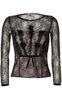 Alberta Ferretti Lace Top in Black - Lyst