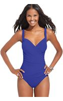 Miraclesuit Sanibel Ruched Tummy Control One Piece - Lyst