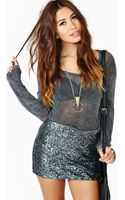 Nasty Gal Disco Revival Sequin Skirt - Lyst