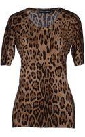 Dolce & Gabbana Short Sleeve Sweater - Lyst