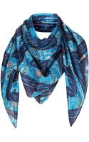 Topshop Paisley Geo Square Scarf - Lyst