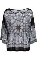 Mango Dolman Sleeve Paisley T-shirt - Lyst