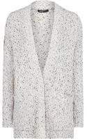 Mango Wool Cotton blend Flecked Cardigan - Lyst