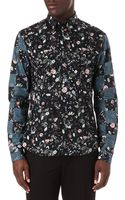 McQ by Alexander McQueen Floral Check Shirt - Lyst