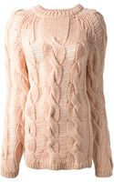 Carven Cable Knit Sweater - Lyst