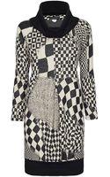 James Lakeland Front Pleat Print Dress - Lyst