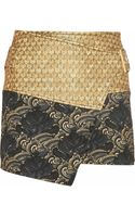 Kenzo Cobra Metallic Jacquard and Brocade Wrap Skirt - Lyst