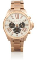 Michael Kors Wren Rose Goldplated Stainless Steel Chronograph Watch - Lyst