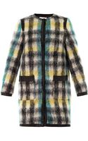 Sea Check Mohair wool Coat - Lyst