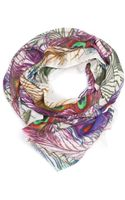 Ananda Design Peacock Feather Wrap - Lyst