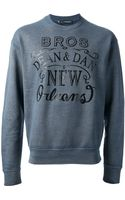 DSquared2 Printed Sweatshirt - Lyst