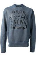 DSquared2 Printed Sweatshirt - Lyst