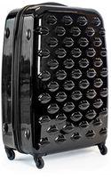 Lulu Guinness Black Hard Sided Lips Large Spinner Case - Lyst