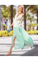 Victoria's Secret Pleated Maxi Skirt - Lyst