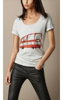 Burberry London Graphic Cotton T shirt - Lyst