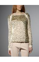 Patrizia Pepe Mesh Jersey With Sequins - Lyst