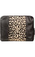 3.1 Phillip Lim Black Leopard Medium 31 Minute Leather Clutch Bag - Lyst