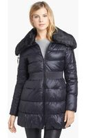Laundry By Shelli Segal Faux Fur Collar Quilted Coat - Lyst
