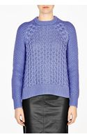 Acne Studios Lavender Ruth Cable Knit Sweater - Lyst