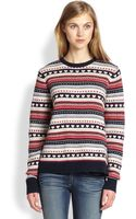 Cardigan Lolita Fair Isle Crew Sweater - Lyst