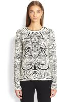 Emilio Pucci Intarsia Knit Jacquard Sweater - Lyst